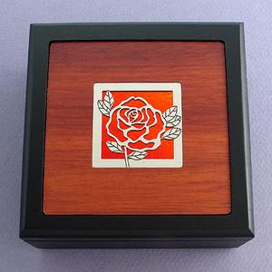 Rose Small Decorative Wood Box