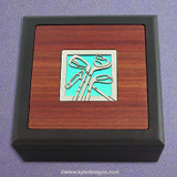 Golf Small Decorative Wooden Box