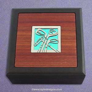 Golf Small Decorative Wooden Box