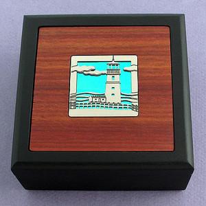 Lighthouse Small Handmade Wooden Box