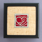 Heart Small Decorative Wooden Box