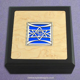 Jewish Star of David Small Decorative Wooden Box