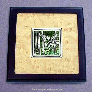 Bamboo Design Small Handcrafted Wooden Boxes