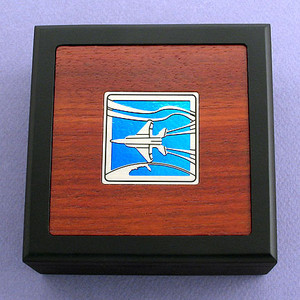 Military Jet Small Decorative Wooden Box