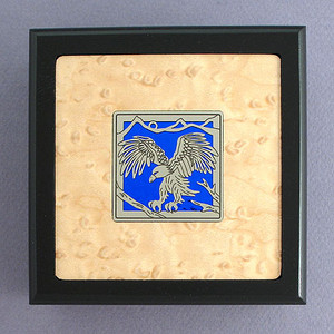 Eagle Small Decorative Wood Box