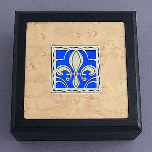 Fleur De Lis Small Decorative Wooden Boxes