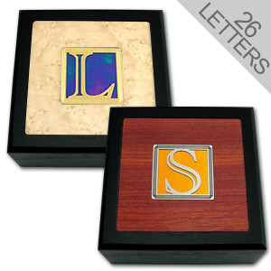 Decorative Monogram Letter Wooden Boxes