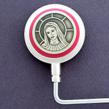 Virgin Mary Design Religious Purse Hook