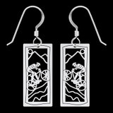 Mountain Biker Earrings