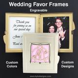 Engraved Wedding Favor Picture Frames