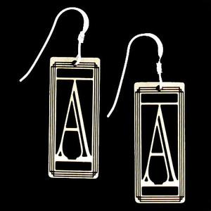Monogram Letter A Earrings