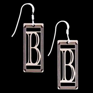 Monogram Letter B Earrings