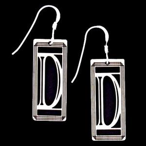Monogram Letter D Earrings