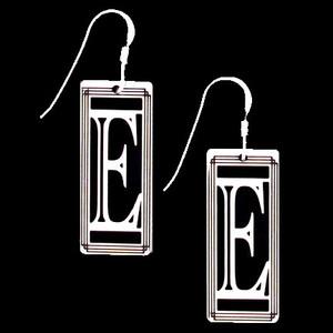 Monogram Letter E Earrings