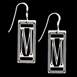 Monogram Letter M Earrings