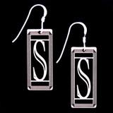 Monogram Letter S Earrings