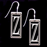 Monogram Letter Z Earrings