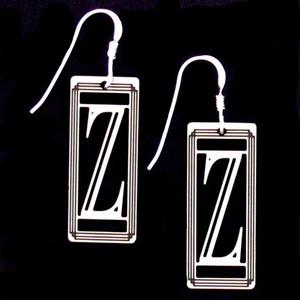 Monogram Letter Z Earrings