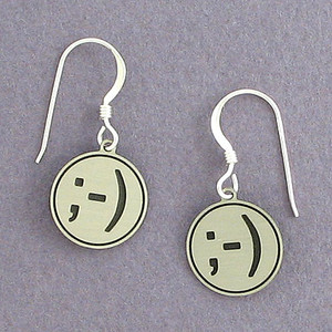 Wink Emoticon Earrings