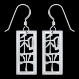 Chinese Peace Symbol Earrings