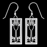 Fork & Plate Earrings