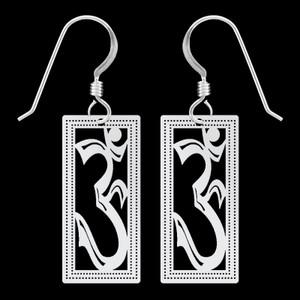 Yoga Om Symbol Earrings