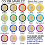 Decorative mirror compact colors around designs