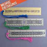 "6"" Decorative Metal Ruler"