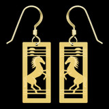 Wild Mustang Horse Earrings