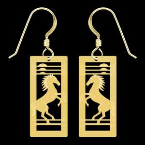Wild Mustang Horse Earrings