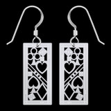 Poker Earrings