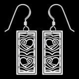 Heart Earrings - 2 Silver Hearts
