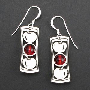 Cherry Beaded Earrings
