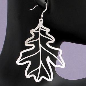 Large Oak Leaves Earrings