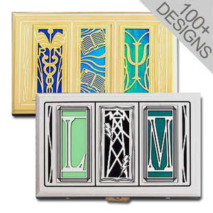 Double-Sided Business Card Cases in Stylish Designs