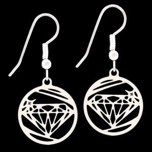 Diamond Theme Round Earrings