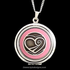 Valentine's Day Engraved Heart Photo Locket