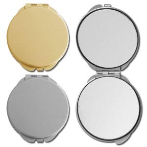 Sleek Round Compact Mirrors