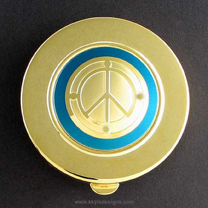 Peace Symbol Pill Case - Large