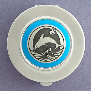 Dolphin Compact Pillbox - Large