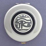 Egyptian Eye Compact Mirror - Round