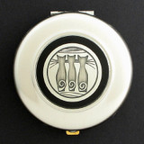 Triple Cats Compact Mirrors - Round