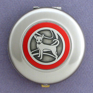 Chihuahuas Mirror Compacts - Round