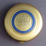 Hibiscus Compact Mirror - Round