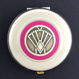 Art Deco Compact Mirrors - Round