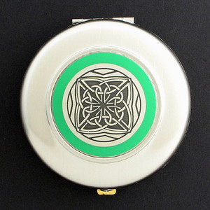 Celtic Knot Compact Mirror - Round