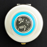 Sea Turtles Compact Mirror - Round