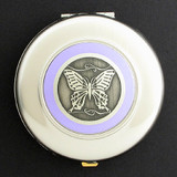 Butterfly Compact Mirror - Round