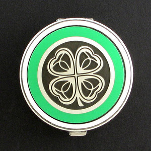 Four Leaf Clover Pill Case - Round