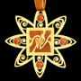 Decorative Art Nouveau Ornament - Gold